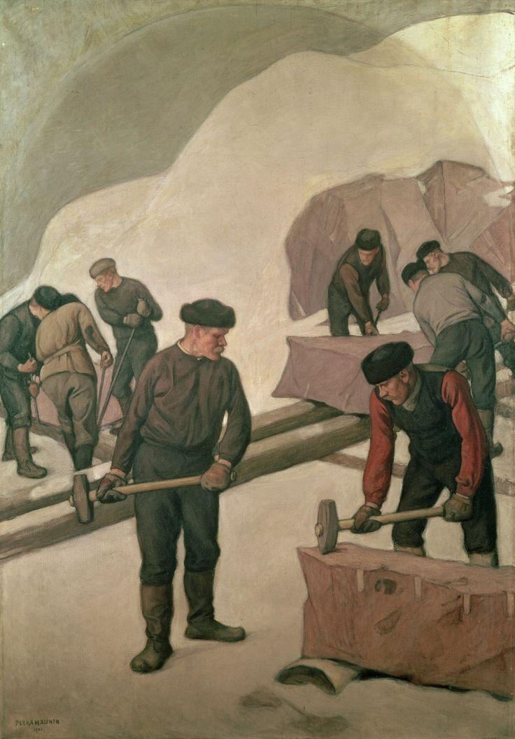 Pekka Halonen (1965-1933) Kivi katkaisijat / The stone breakers 1903 - Finland