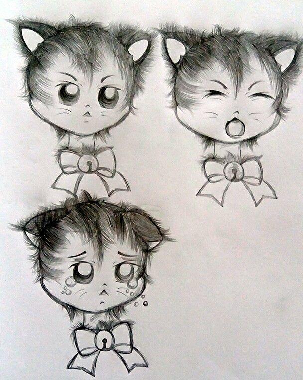 Kitten Expressions @luamiki   #kitten #kittens #babycat #cat #gato #gatinho #drawing #draw #draft #sketch #desenho #fanart #emoji #expressions