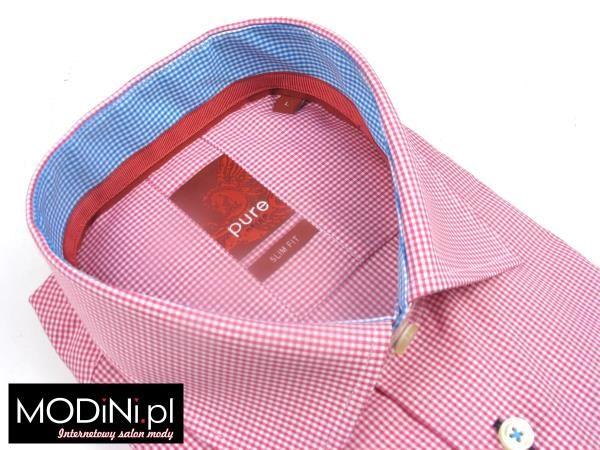 http://www.modini.pl/rozowo-biala-koszula-meska-pure-slim-140