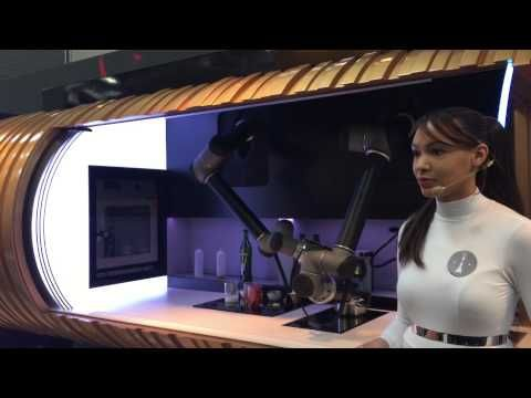 Demonstration of a robotic kitchen using two UR10 robot arms