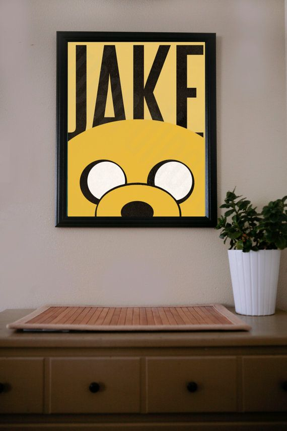 Hey, I found this really awesome Etsy listing at http://www.etsy.com/listing/128544416/adventure-time-jake-poster