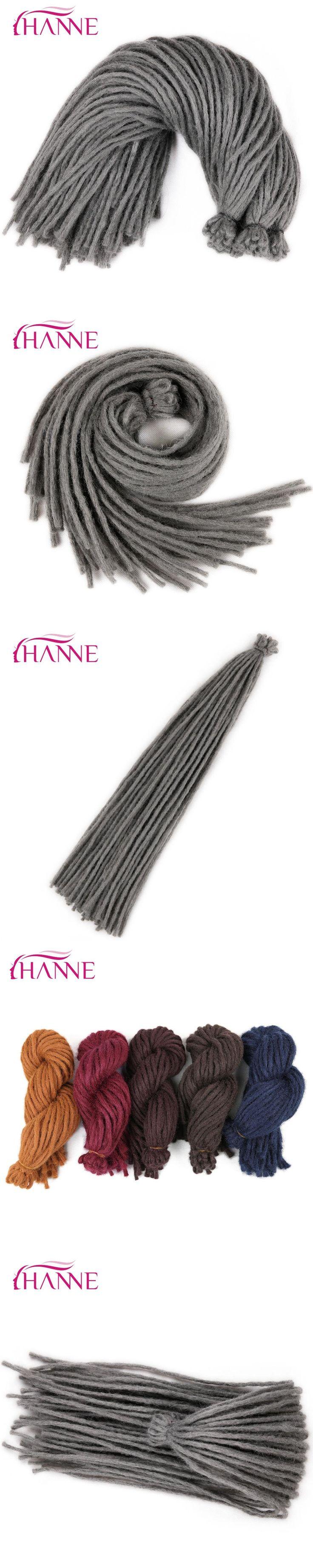 """HANNE one pack 22"""" Crochet Braids Burgundy blue brown Gray 55g/pack Dreadlocks Synthetic Hair Extension For Black Women Or Men"""