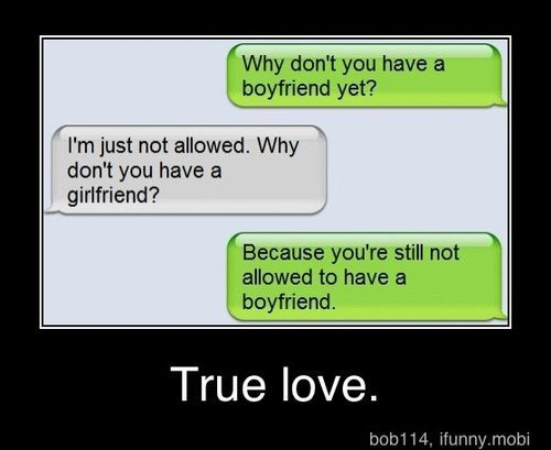 """I don't know about """"true love"""" but it's cute"""