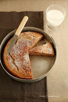 Torta con farina di castagne e mascarpone