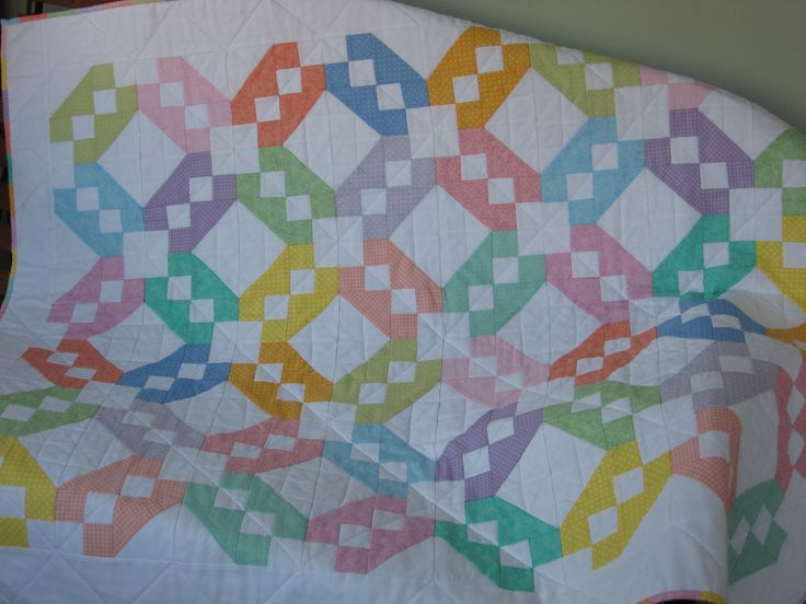 Free Quilt Pattern For Jacob S Ladder : 17 Best images about Jacob s Ladder Quilts on Pinterest Quilt designs, Scrappy quilts and Antiques