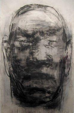 1996 BUDDHAS's WARRIOR, Yan Pei Ming | charcoal on paper