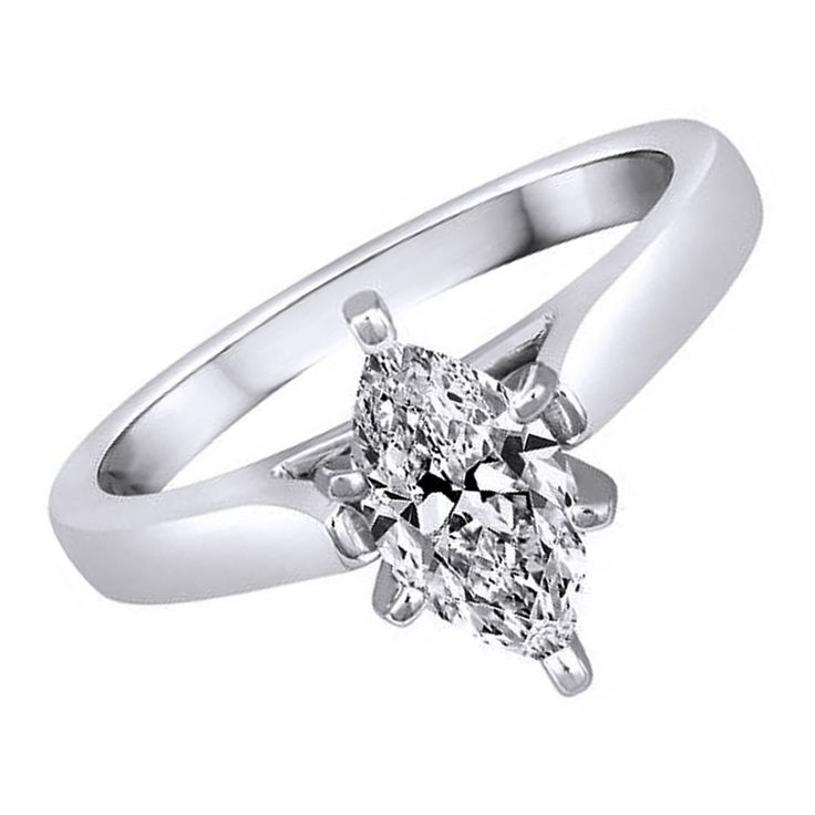 1.13ct D/ VVS1 Solitaire Engagement Ring Marquise in White Gold Bridal Jewelry #Affinityhomeshoping #Solitaire