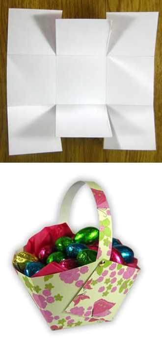 how to make paper easter basket