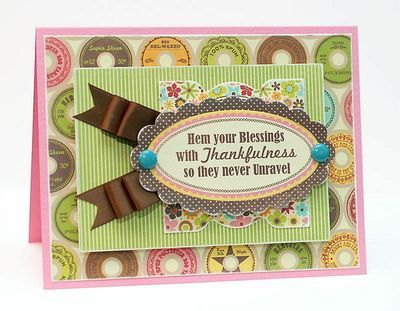 Love the quote! folded ribbon trim