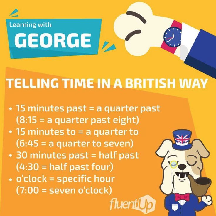 """Tell the time like George and #fluentup . You'll learn British terms and expressions... """"in no time""""! 😄🙃🧐🇬🇧🕰💂♂️ . . . . . #learnenglish #learningisfun #tellthetime #british #george #languagelearning #notime #onlinecourse #languageschool #englishbulldog"""