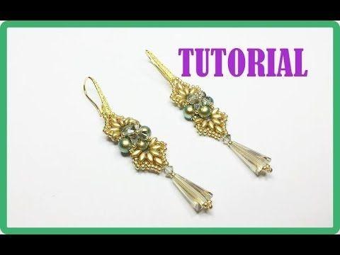Tutorial, come fare un paio di orecchini con perline. Orecchini Iridescenze Decò