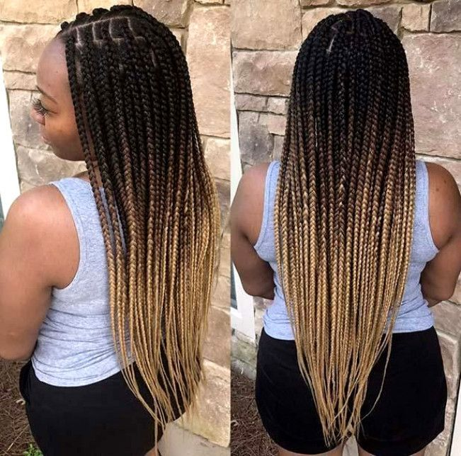 25 Pretty Box Braids With Color For Every Season Box