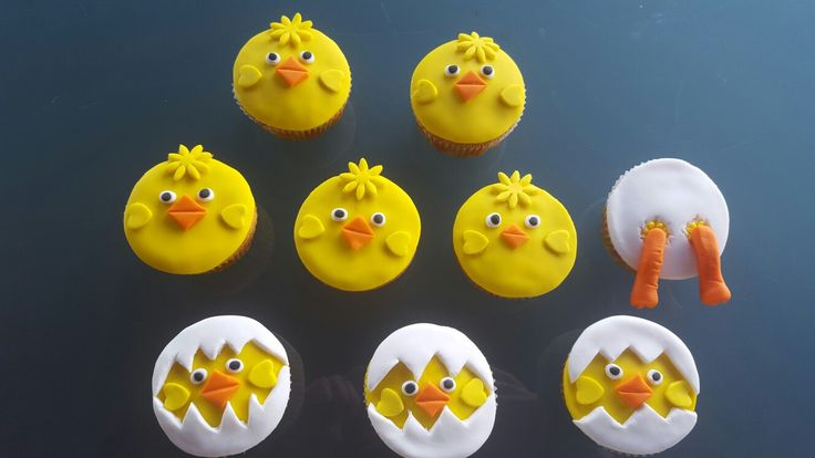 Chick Easter Cupcakes