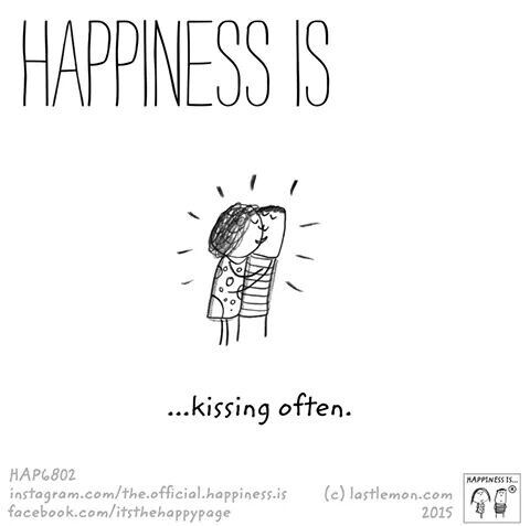 Kissing. #HappinessIs