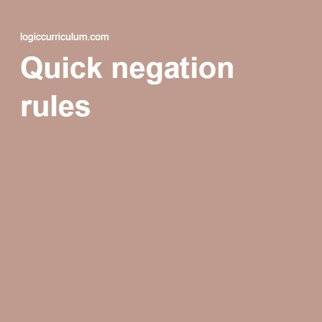 24 best logic info images on pinterest board google search and sign here are some quick rules to help you symbolize propositions that use negation not both p and q p q either not p or not q p v q fandeluxe Choice Image
