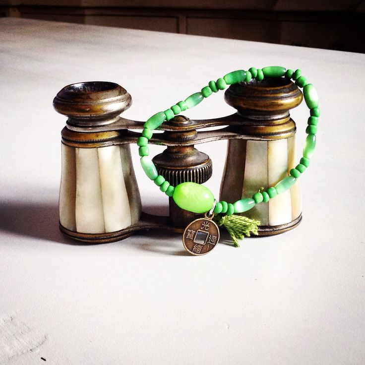 Pulsera Rosario budista verde Las cositas de Palolu