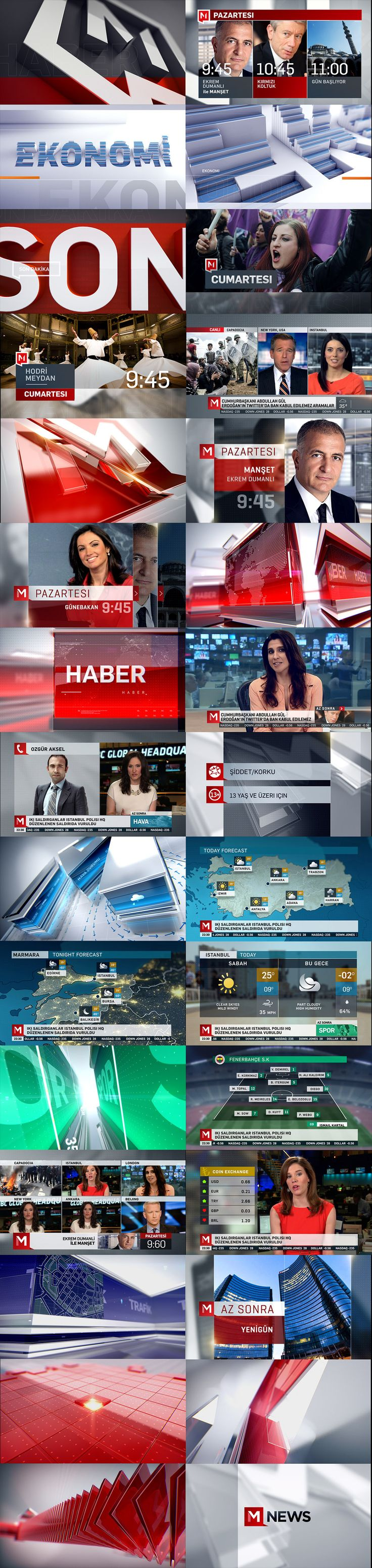 M NEWS NETWORK on Behance