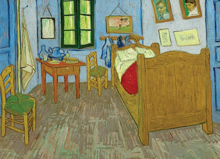 Vincent Van Gogh - Bedroom in Arles (Third Version). 1000 pieces. Enchanted by the local landscape and light at Arles, highlight the intensity of color in this piece of work.