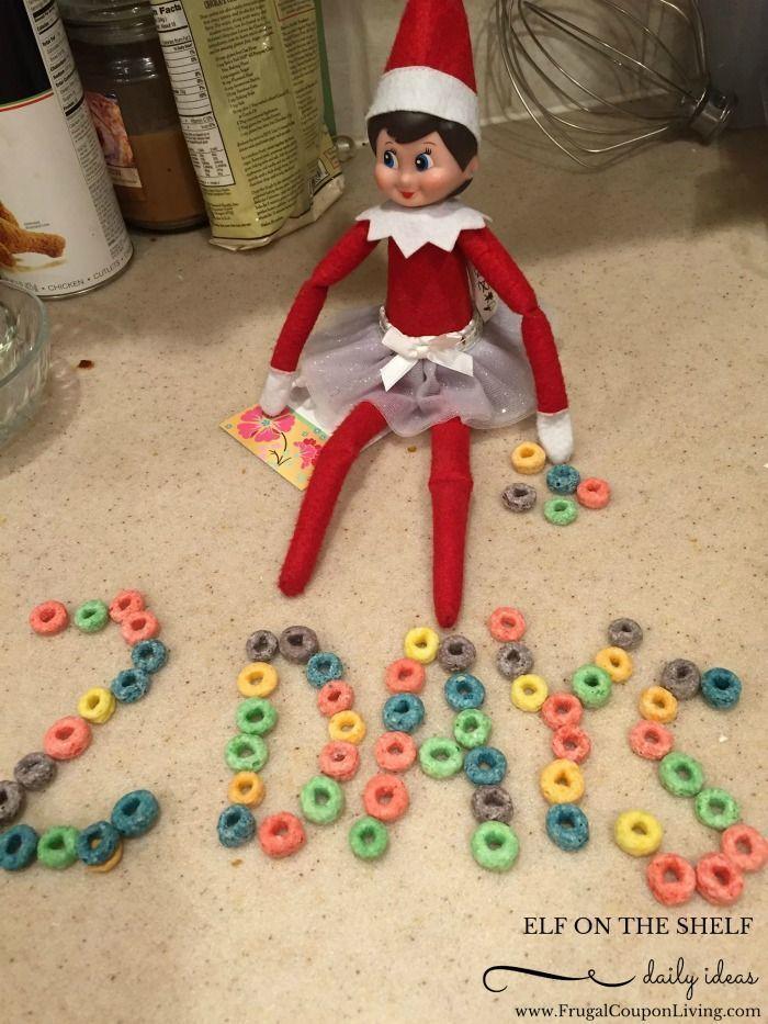 Elf On The Shelf Ideas Elf Cereal Countdown Elf On The Shelf Elf Elf Fun