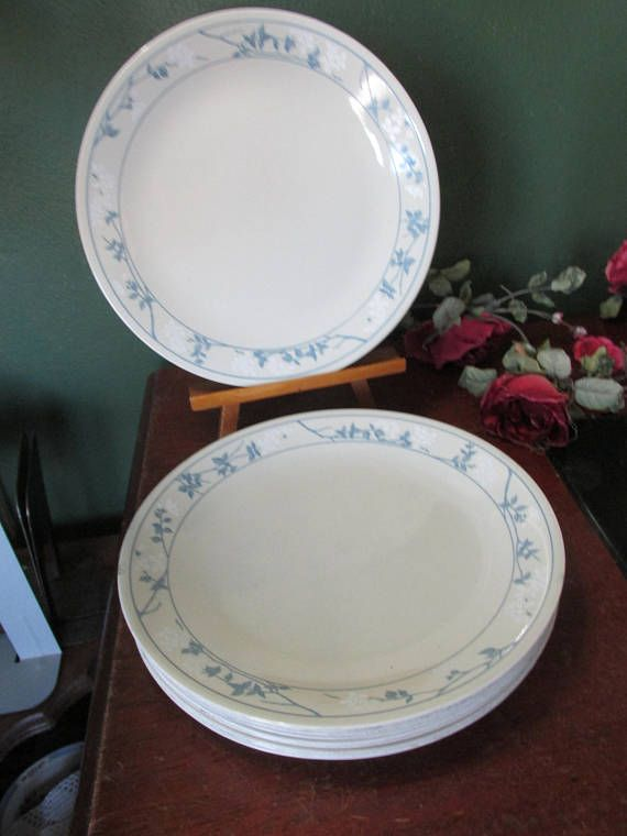 Corelle Luncheon Plates Open Stock Part - 20: Corelle Dinner Plates First of Spring Vintage 10 Inch Corning
