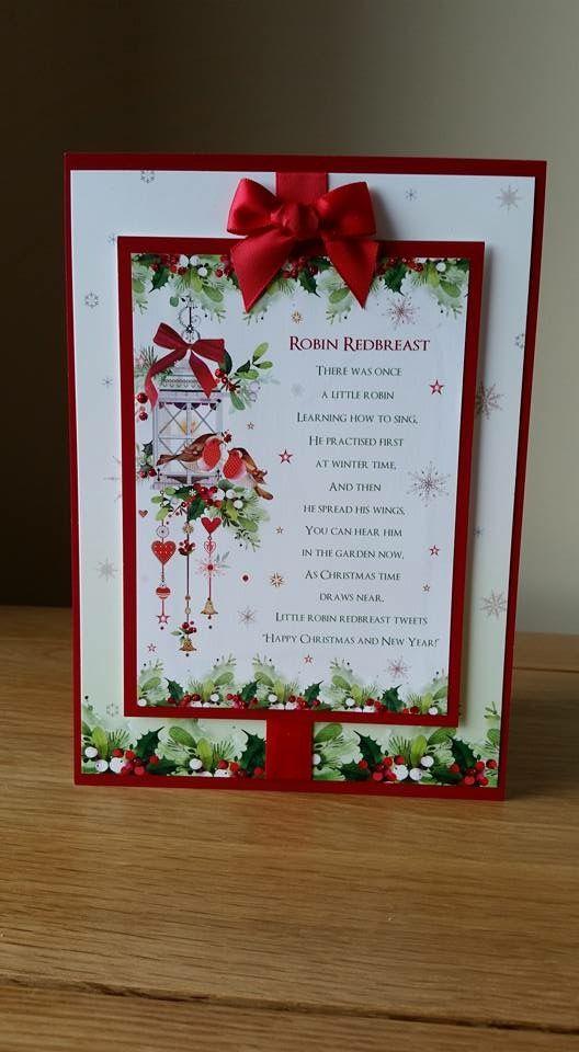 Hunkydory Christmas card 2015.
