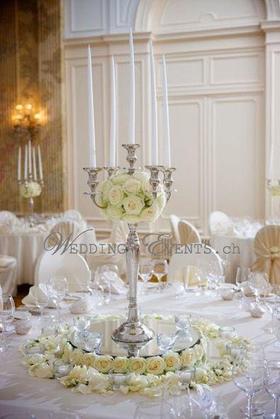 #Kerzenständer #Silber 80 cm #mieten                  www.wedding-events.c