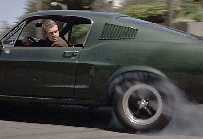 """Steve McQueen revs his engine in """"Bullitt"""" (1968), a movie for car guys"""