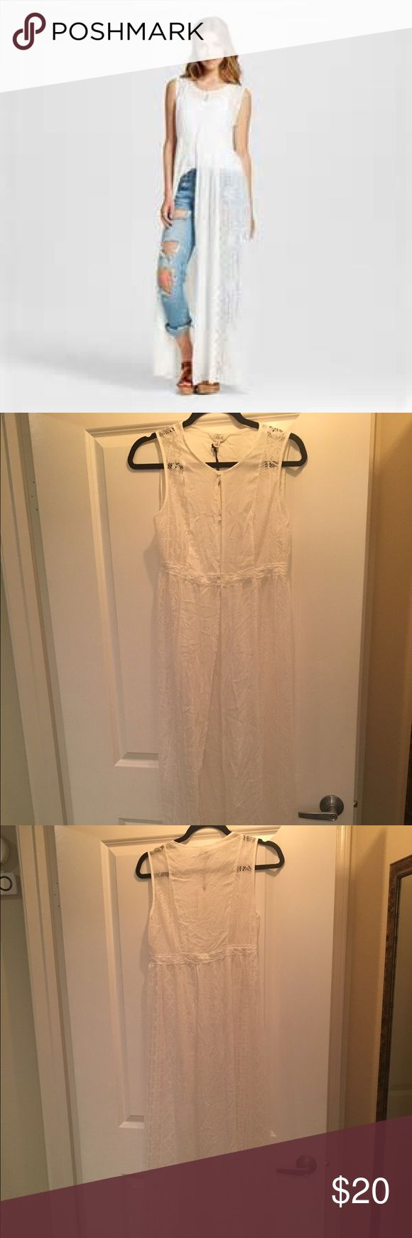 Juniors White Lace Sleeveless Duster Cardigan NWT! From target, J'Aime brand sleeveless Lace cardigan duster, sz s. Never worn! make me an offer! j'aime Tops