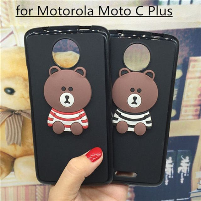 e2cc050b3a3 3D Soft Silicone Phone Case Cover for Motorola Moto C Plus XT1723 XT1724  Original Cute Back Covers Cartoon Cases Capa Funda
