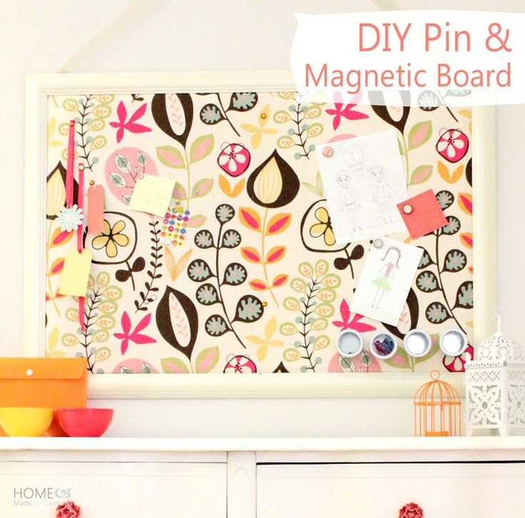 How to create a dual cork board and magnetic board in one. Great for pinning up photos, drawings, storing magnetic tins, and more!