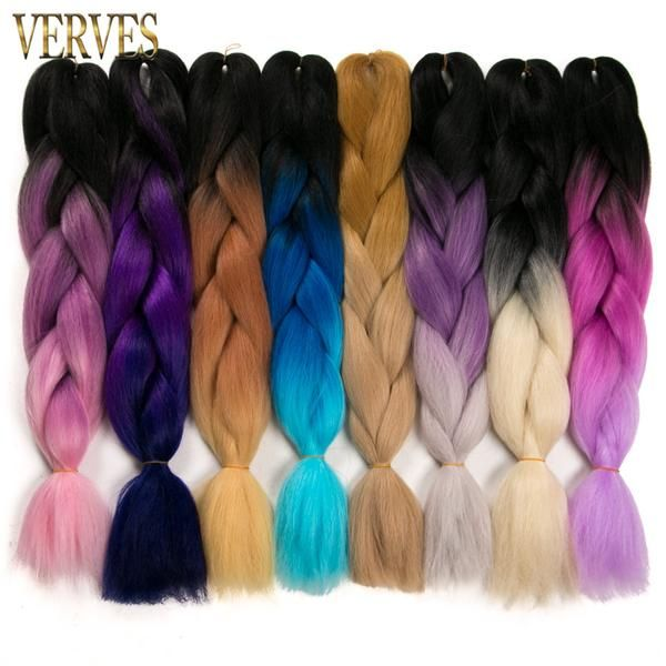 Synthetic Two Tone High Temperature Fiber Braiding Hair 5 piece 24 inch