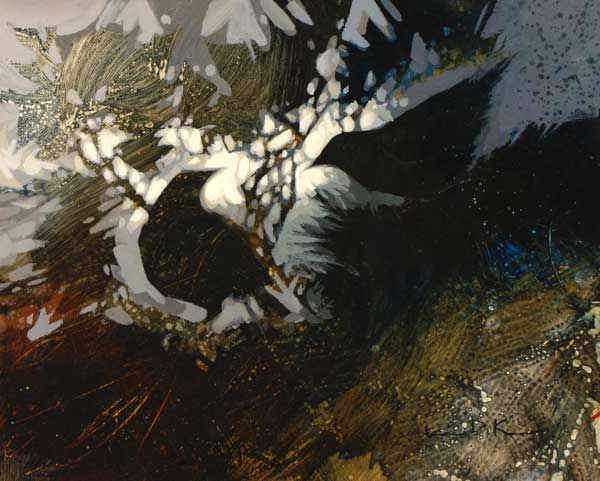 How One Artist Feeds Her Curiosity With Negative Painting - Artist's Network #abstract #art #crows