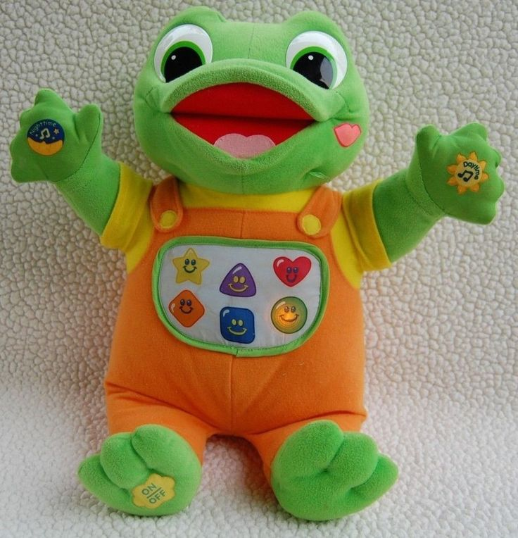 LeapFrog Baby Tad Hug & Learn Musical Light-Up Plush Frog ...