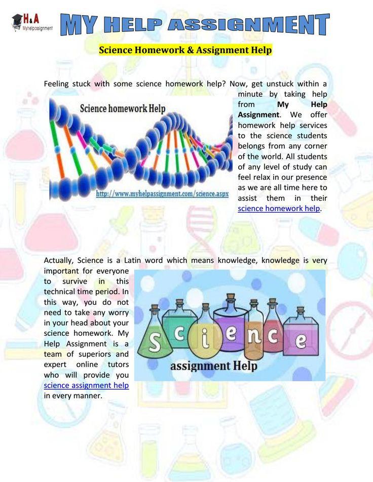 Science homework help uk