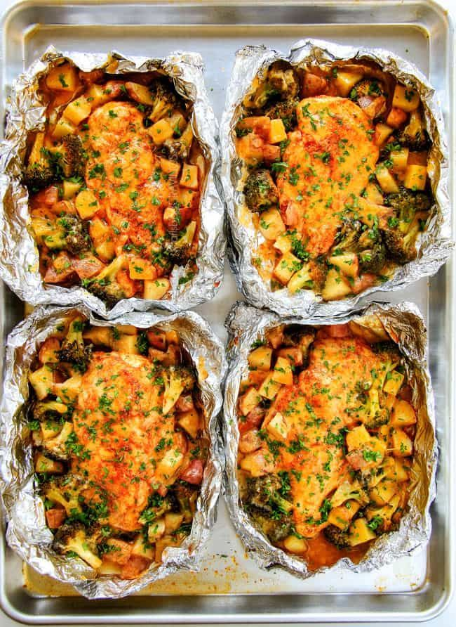 Chicken with bison | Dinners of aluminum packages for quick meals # Dinner #easyrecipe …   – Foil Pack Meals