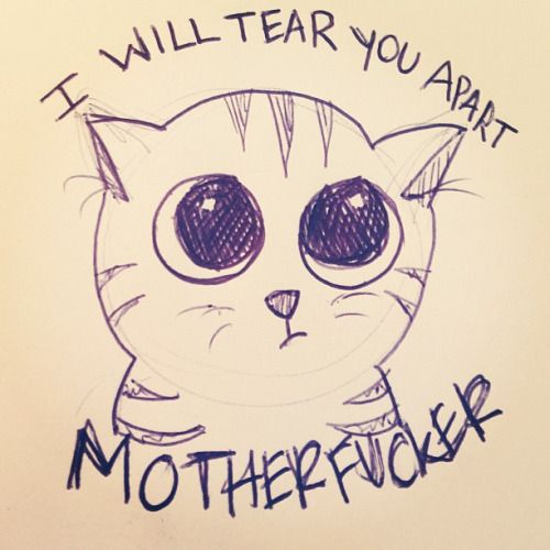 Draw pray love cats can be quite violent cat cats for Love stuff to draw