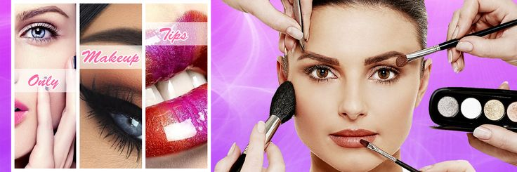 Professional Makeup Eyes Lips Cosmetics Twitter Header Banner Cover Design