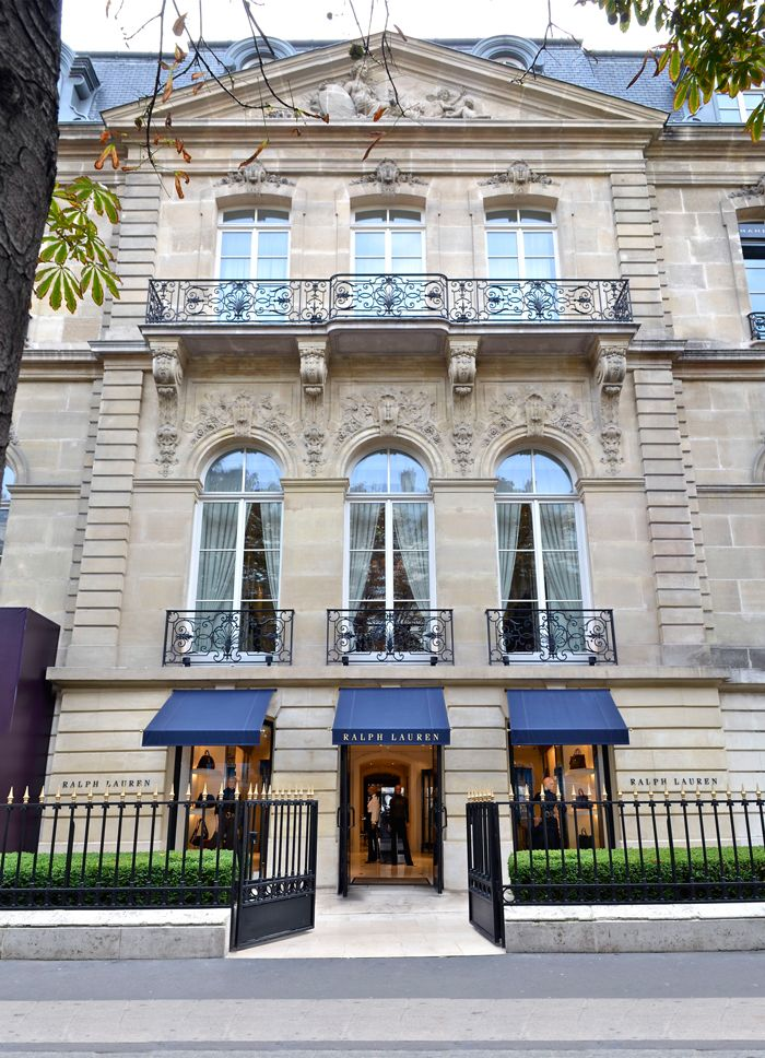 Ralph's World in Paris  OurMontaignestore in Paris reflects the rich heritage and tradition of Beaux-Arts architecture