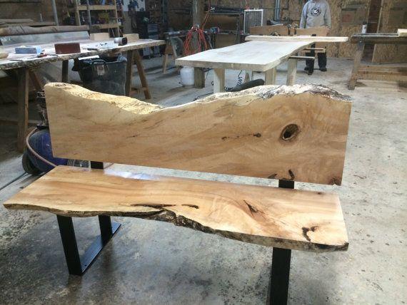 Live Edge Bench Wood Slab Bench Reclaimed Wood by TreeGreenTeam - Top 25+ Best Wood Slab Ideas On Pinterest Wood Table, Wood