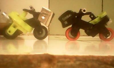 miniatur motor buatan saya yang terbuat dari korek api gas bekas