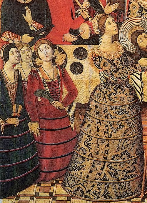 Detail of The Banquet of Herod by Pedro Garcia de  Benabarre, 1470's Spain