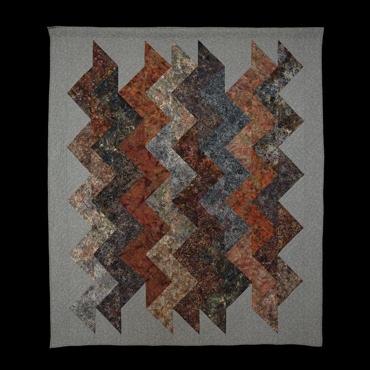 (2016) Autumn Zigzag 192 x 225 cm. After Terry Aske