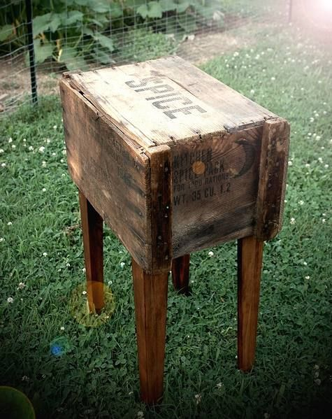 1000 images about farmhouse living room on pinterest for Table made from crates