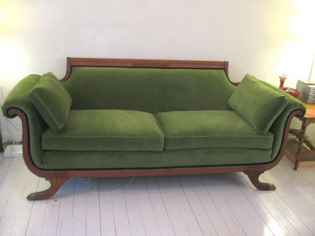 when it is recovered it will look like this!!!: Loveseats Size, Crazy Pillows, Interiors Style, Design Couch, Green Sofas, Studios Couch, Identity Sofas, Ooooh Velvet Couch, Green Velvet Sofas