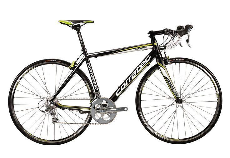 Rennrad, 28 Zoll, 20 Gang SHIMANO TIAGRA, »Dolomiti TIAGRA«, Corratec.  Lieferbar in 5 Rahmenhöhen  Das Rennrad Dolomiti ist kein Einsteigermodell, denn es vermittelt Freude und Fahrgefühl einer vollwertigen Rennmaschine. Zudem bietet das Rad mit den dreifach konifizierten 6069 Rohren einen kaum schwereren Rahmen als das Carbon CCT Team - der Beweis für die Klasse eines Aluminiumrennrades.Die L...