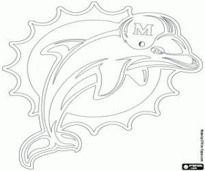 Coloriage Emblème des Dolphins de Miami
