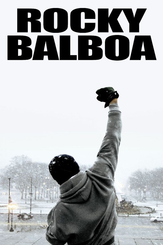 Rocky Balboa Movie Poster Wall Bar Galaxy Space by Vitaminchik321