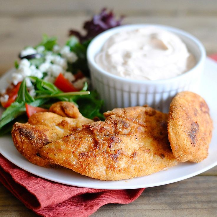 These taco-flavored chicken fingers have a crisp outer coating and are moist and delicious inside. Now you and your children can enjoy this favorite with less fat and fewer calories! Photo credit: Jen Tilley from How to Simplify.