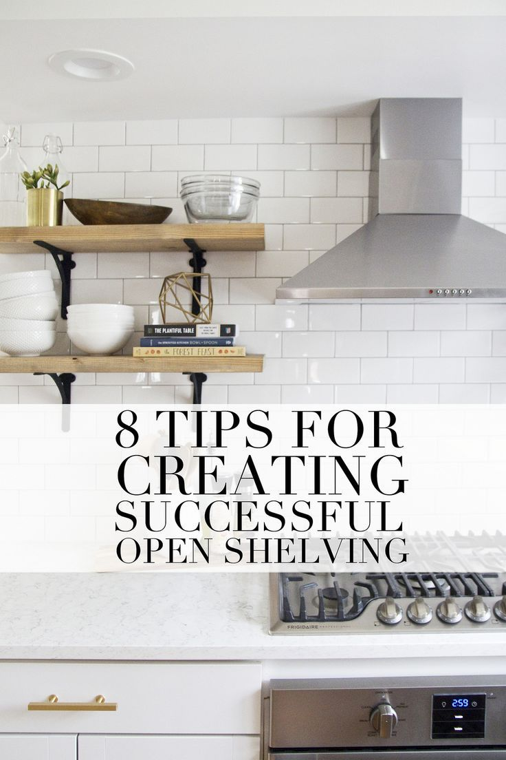 tips for creating successful open shelving and a pantry french