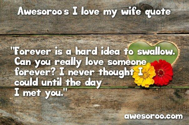 i love my wife saying